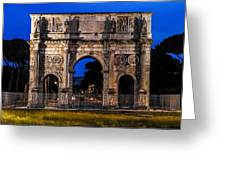 Arch Of Constantine Greeting Card