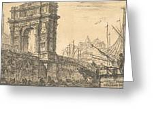 Arch Of Trajan In Ancona  Greeting Card