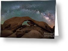 Arch Rock Milky Way  Greeting Card