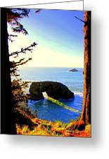 Arch Rock Reflection Greeting Card