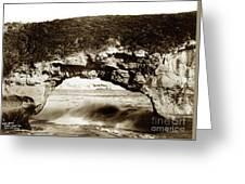 Arch Rock, Santa Cruz, California Circa 1900 Greeting Card