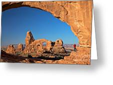 Arch Though An Arch Greeting Card
