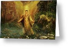 Archangel Azrael Greeting Card by Steve Roberts