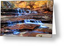 Archangel Falls In Zion National Park Greeting Card by Pierre Leclerc Photography
