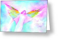Archangel Gabriel In Flight Greeting Card