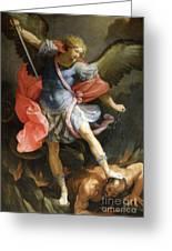 Archangel Michael Defeating Satan Greeting Card