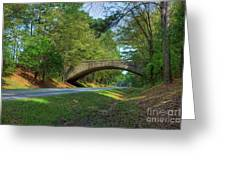 Arched Bridge Overpass  Greeting Card