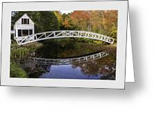 Arched Bridge-somesville Maine Greeting Card