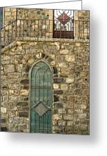 Arched Door And Window Greeting Card