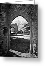 Arched Door At Ballybeg Priory In Buttevant Ireland Greeting Card