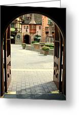 Arched Doorway With A Bavarian View Greeting Card