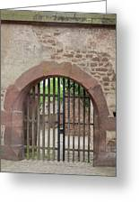 Arched Gate At Heidelberg Castle Greeting Card