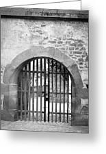 Arched Gate B W Greeting Card