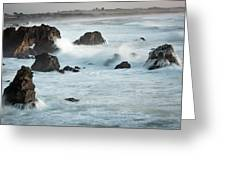 Arched Rock Wave Break Greeting Card