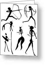 Archer And Other Figures Greeting Card