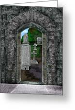 Arches And Cross In Ireland Greeting Card