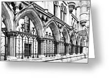 Arches Front Of The Royal Courts Of Justice London Greeting Card