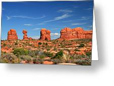 Arches National Park - Hoodoos Carved In Entrada Sandstone Greeting Card
