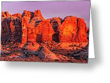 Arches National Park Pano One Greeting Card