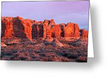 Arches National Park Pano Two Greeting Card