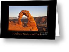 Arches National Park Poster Greeting Card