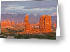 Arches National Park Sunset Greeting Card