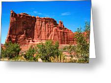 Arches National Park, Utah Usa - Tower Of Babel, Courthouse Tower Greeting Card