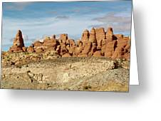 Arches Spires  Greeting Card