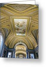 Architectural Artistry Within The Vatican Museum In The Vatican City Greeting Card