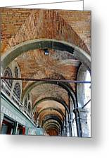 Architectural Ceiling Of The Building Owned By The Rialto Market In Venice, Italy Greeting Card