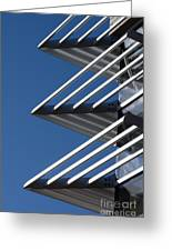 Architectural Detail Of Triangles Greeting Card