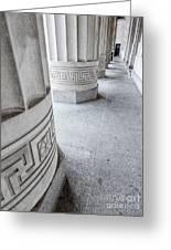 Architectural Pillars Greeting Card