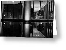 Architectural Reflecting Pool Greeting Card