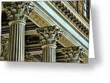 Architecture Columns Palace King Louis Xiv Versailles  Greeting Card