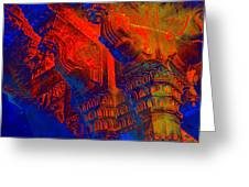 Architecture Detail  Amber Fort Palace India Rajasthan Jaipur Abstract Square 1a Greeting Card