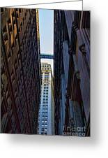 Architecture New York City The Crossing  Greeting Card