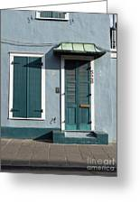 Architecture Of The French Quarter In New Orleans Greeting Card