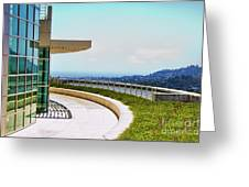 Architecture View Getty Los Angeles  Greeting Card