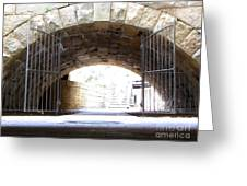 Archway And Gate Greeting Card