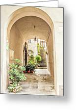 Archway And Stairs In Italy Greeting Card