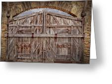 Archway Gate Greeting Card