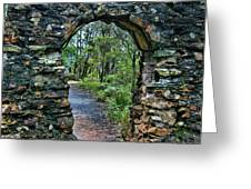 Archway To The Forest Greeting Card