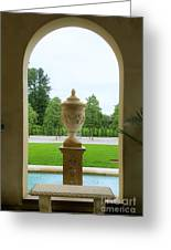 Archway Window To The Garden Greeting Card