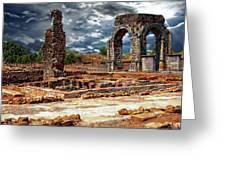 Arco De Caparra Greeting Card