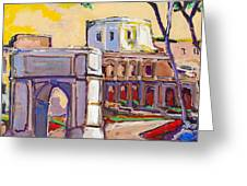 Arco Di Romano Greeting Card