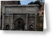 Arco Di Settimio Severo Greeting Card