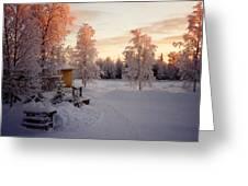 Arctic Homestead Greeting Card