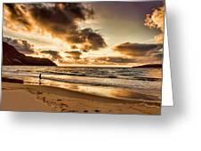Ardara Beach And Maghera Caves Greeting Card