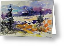 Ardennes Landscape Watercolor Greeting Card