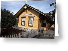 Ardenwood Historic Farm Railroad Station Greeting Card